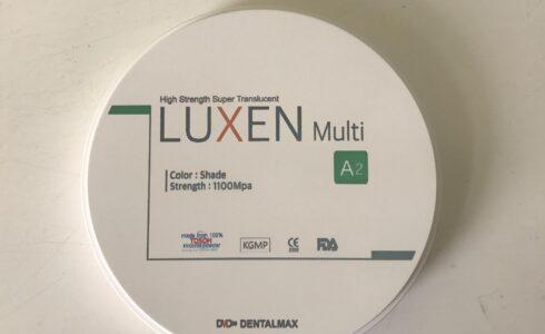 ジルコニアはLUXEN Enamel Multi Gradationを使用しています。今回のディスクは高い透明度を保ったまま全ての層が1100mpaとなっており、ロングスパンのブリッジにも安心して対応